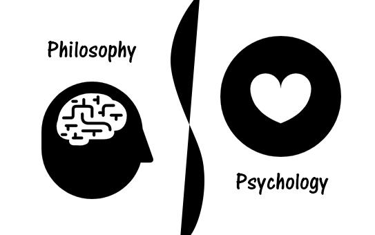 Philosophyと書いてある脳みそのアイコンとPsychologyと書いてあるハートのアイコン